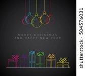 merry christmas minimalistic... | Shutterstock .eps vector #504576031