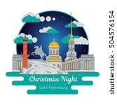christmas night in saint...   Shutterstock .eps vector #504576154