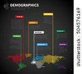 demographics infographic report ...   Shutterstock .eps vector #504576169