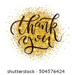 hand drawn thank you typography ... | Shutterstock .eps vector #504576424