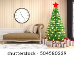 christmas tree with decorations ... | Shutterstock . vector #504580339