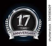 17 years silver anniversary... | Shutterstock .eps vector #504580609
