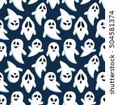happy halloween seamless... | Shutterstock .eps vector #504581374