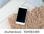 mobile  smartphone with black... | Shutterstock . vector #504581485