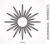 sun icon | Shutterstock .eps vector #504583171