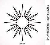 sun icon | Shutterstock .eps vector #504583261