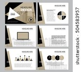 page layout design template for ... | Shutterstock .eps vector #504583957