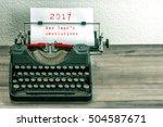 Typewriter With White Paper...