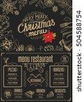 christmas restaurant brochure ...   Shutterstock .eps vector #504588754