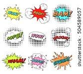 classic comics book speech... | Shutterstock .eps vector #504589057