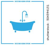 bath icon vector illustration... | Shutterstock .eps vector #504594151