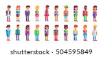 super people set. 20 different... | Shutterstock .eps vector #504595849