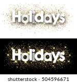 holidays paper banners set with ... | Shutterstock .eps vector #504596671