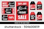 black friday. set of vector... | Shutterstock .eps vector #504600859