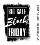 black friday. vector design for ... | Shutterstock .eps vector #504601585
