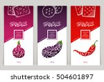 vector set of templates... | Shutterstock .eps vector #504601897