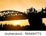 the bridge over  the  kwai... | Shutterstock . vector #504604771