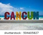 cancun sign | Shutterstock . vector #504605827