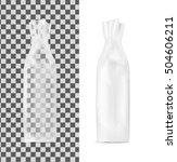 transparent shopping paper bag. ... | Shutterstock .eps vector #504606211