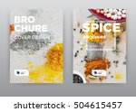 seasoning yellow food kitchen... | Shutterstock . vector #504615457