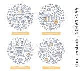 doodle vector illustrations of... | Shutterstock .eps vector #504617599