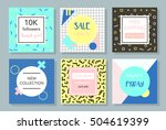 social media promotion graphic... | Shutterstock .eps vector #504619399