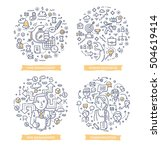 doodle vector illustrations of... | Shutterstock .eps vector #504619414