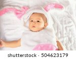baby bunny on white background | Shutterstock . vector #504623179