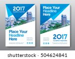 blue color scheme with city... | Shutterstock .eps vector #504624841