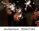 hands of a few people are...   Shutterstock . vector #504627181