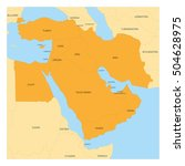 map of middle east or near east ... | Shutterstock .eps vector #504628975