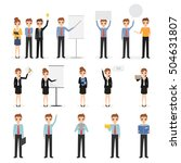 set of business man and... | Shutterstock .eps vector #504631807