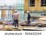 seoul   sep 29  construction... | Shutterstock . vector #504633244