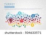 turkey dotted vector background | Shutterstock .eps vector #504633571