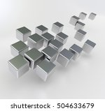 3d rendering of a group of... | Shutterstock . vector #504633679