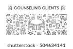 vector line concept customer... | Shutterstock .eps vector #504634141