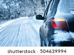 Car On Winter Road In The...