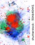 explosive emotional drops of...   Shutterstock . vector #504640441