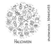 vector halloween set | Shutterstock .eps vector #504641455