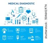medical diagnostic icon set.... | Shutterstock .eps vector #504641974