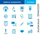 medical diagnostic vector icon... | Shutterstock .eps vector #504642205