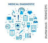 medical diagnostic vector icon... | Shutterstock .eps vector #504642391