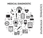 medical diagnostic vector icon... | Shutterstock .eps vector #504642421