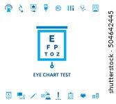 eye chart test diagnostic...   Shutterstock .eps vector #504642445