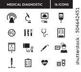 medical diagnostic vector icon... | Shutterstock .eps vector #504642451