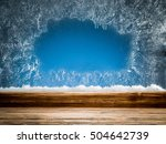 Wooden Sill And Frozen Window....