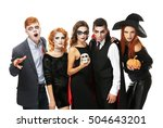 young people dressed in... | Shutterstock . vector #504643201