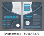 brochure template. business... | Shutterstock .eps vector #504644371