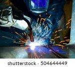 welder industrial automotive... | Shutterstock . vector #504644449