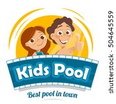 aqua water park or swimming... | Shutterstock .eps vector #504645559